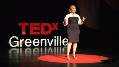 Dr Kate Hendricks Thomas speaking at TED Talk